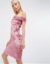 Club L Bardot Velvet Midi Dress