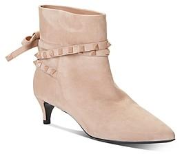Valentino Women's Rockstud Flair Studded Strap Kitten-Heel Booties