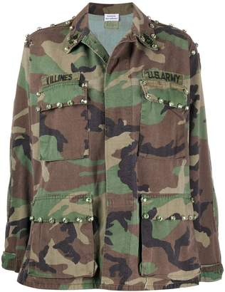 P.A.R.O.S.H. Camouflage Print Military Jacket