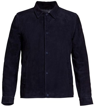 Officine Generale Soft Suede Coach Jacket