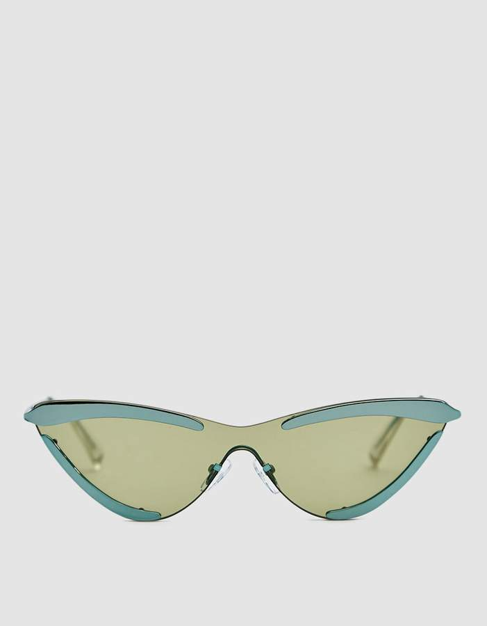 Le Specs Adam Selman X The Scandal Sunglasses in Aqua