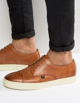 Farah Dawson Leather Toe Cap Sneakers