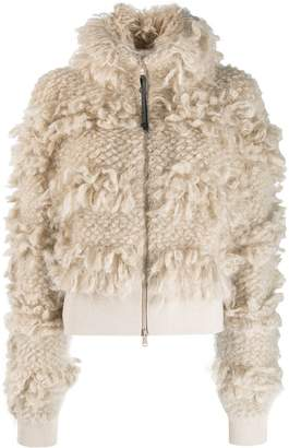 Brunello Cucinelli shaggy knit bomber jacket