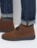 Bellfield Fleece Lined Chukka Boot In Brown Suede