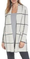 Eileen Fisher Women's Long Check Knit Jacket