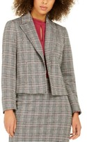 Nine West Notch-Collar Plaid Blazer