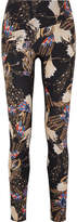 Lucas Hugh Erte Printed Stretch Leggings - Black