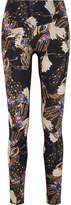 Lucas Hugh Erte Printed Stretch Leggings - Black
