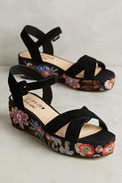 Anthropologie Chelsea Crew Embroidered Floral Sandals