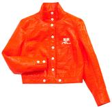 Courreges Fluorescent Red Vinyl Jacket
