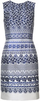 Oscar de la Renta floral print shift dress - women - Silk/Cotton - 4
