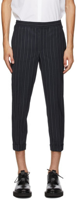 Neil Barrett Navy Wool Stripe Trousers