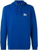 Stussy basic hooded sweatshirt - men - Cotton/Polyester - M