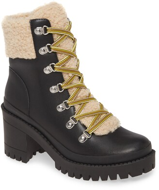 Steve Madden Bundle Up Faux Shearling Bootie