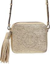 Anya Hindmarch Smiley Crinkled Metallic Leather Bag