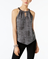INC International Concepts Petite Metallic Halter Top, Created for Macy's