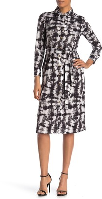 Alexia Admor Printed Button Front Shirt Dress