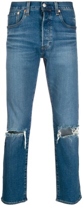 Levi's distressed denim jeans