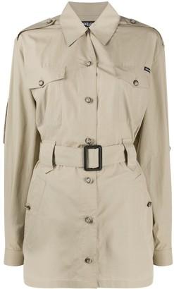 Dolce & Gabbana Button Up Belted Shirt Dress