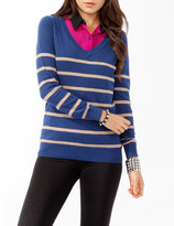 Forever 21 Striped V-Neck Sweater