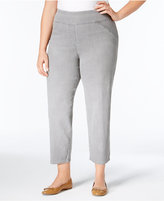 Alfred Dunner Plus Size Uptown Girl Collection Pull-On Stretch Ankle Pants