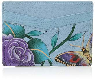 Anuschka Women's Genuine Leather Wallet | Hand Painted Original Artwork | Credit Card Case | Roses D'amour