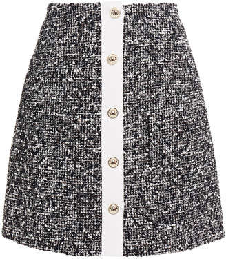 Claudie Pierlot Sasha Boucle-tweed Mini Skirt