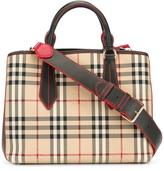 Burberry house check tote - women - Leather/Polyamide/Polyester - One Size