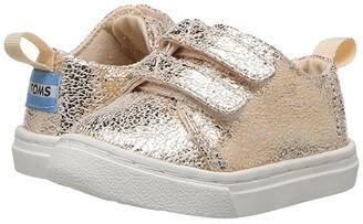 Toms Kids Lenny (Infant/Toddler/Little Kid) (Rose Gold Crackle Foil) Girl's Shoes
