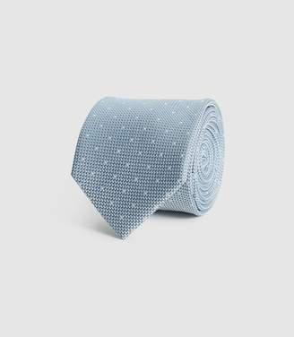 Reiss Liam - Silk Polka Dot Tie in Airforce Blue