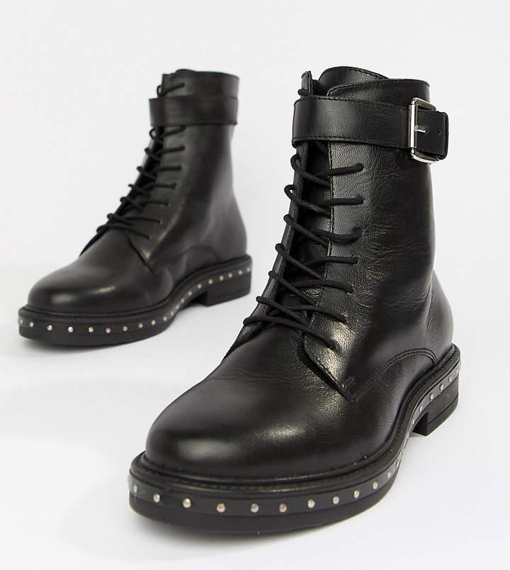 978d3ad3c47 Design DESIGN Wide Fit Algebra leather lace up boots