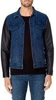 J Brand Men's Scorpius Leather & Denim Jacket