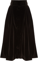 Awake Dream velvet midi skirt