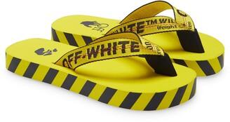 Off-White Industrial Logo Platform Flip Flop