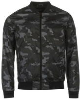 Fabric Lightweight Camo Bomber Jacket Mens