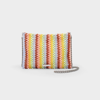 Loeffler Randall Mia Pouch In Multicoloured Beads