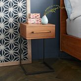 west elm Nash C-Base Nightstand - Teak
