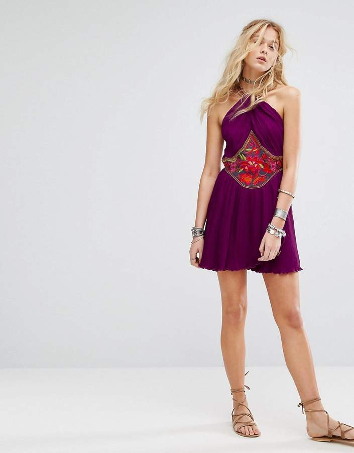 Free People Marcella Embroidered Mini Dress