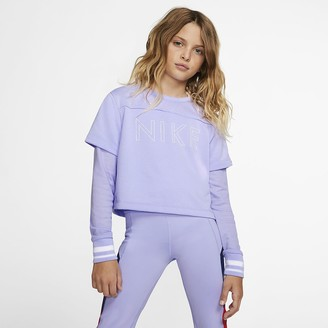 Nike Big Kids' (Girls') Long-Sleeve Training Top Studio