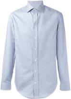 Armani Collezioni woven grid shirt
