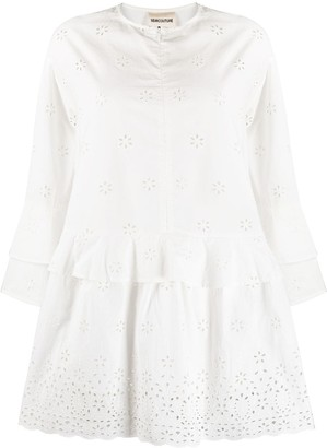 Semi-Couture Broderie Anglaise Shift Dress