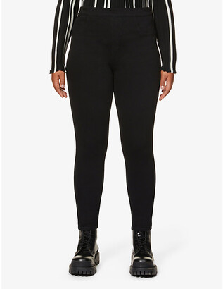 Spanx Jean-ish cotton-blend leggings