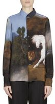 Stella McCartney Silk Horse-Print Blouse