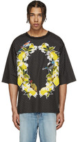 Dolce & Gabbana Black Polka Dot Bird T-Shirt