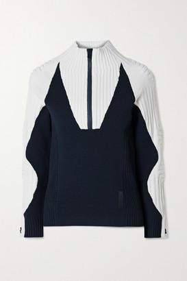 FALKE ERGONOMIC SPORT SYSTEM Ribbed Wool-blend Sweater - Navy