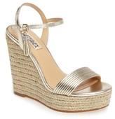 Badgley Mischka Women's Trace Strappy Platform Wedge Sandal