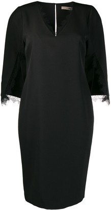 D-Exterior Belted Waist Dress