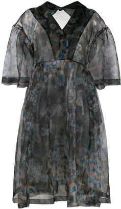 Henrik Vibskov Ruffle-Sleeve Smock Dress