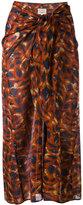 Diega - draped midi skirt - women - Cotton - S