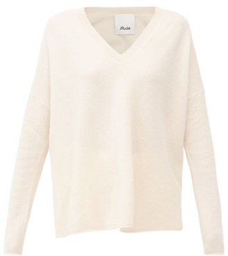 Allude V-neck Cashmere Sweater - Beige